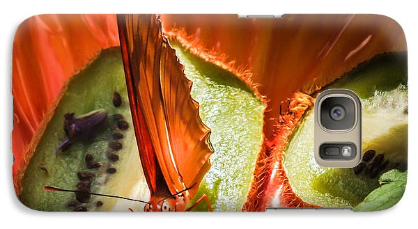 Citrus Butterfly Galaxy Case by Karen Wiles