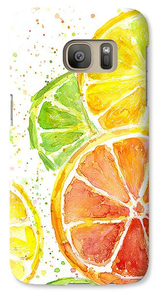 Citrus Fruit Watercolor Galaxy S7 Case
