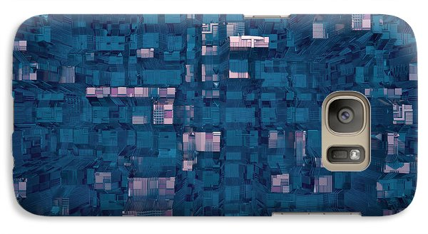 Galaxy Case featuring the digital art City Abstract by Matt Lindley