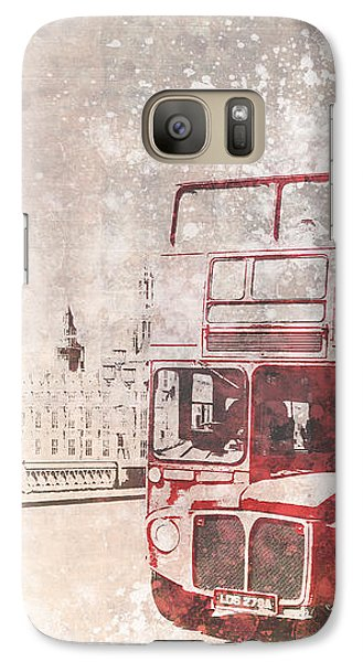 City-art London Red Buses II Galaxy S7 Case by Melanie Viola
