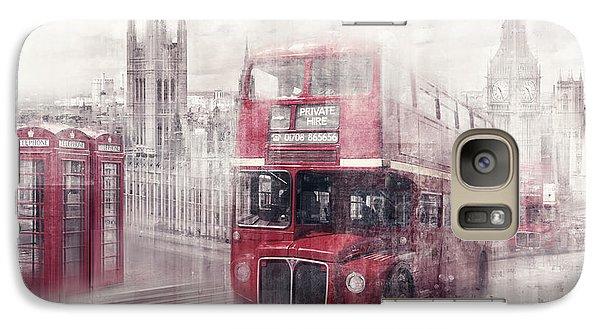 City-art London Westminster Collage II Galaxy S7 Case by Melanie Viola
