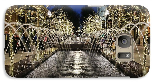 Galaxy Case featuring the photograph City Creek Fountain - 2 by Ely Arsha