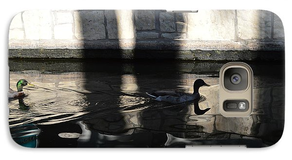 Galaxy Case featuring the photograph City Ducks by Shawn Marlow
