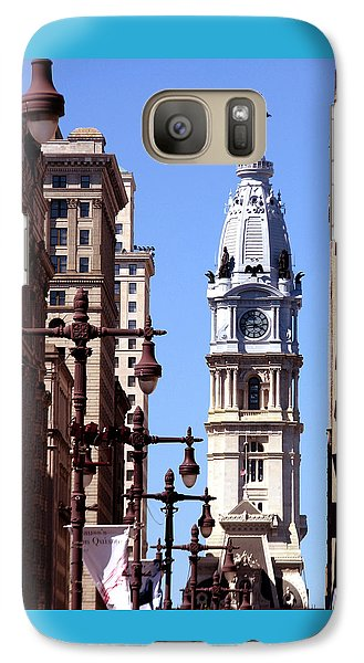 Galaxy Case featuring the photograph Philadelphia City Hall From Broad St by Christopher Woods