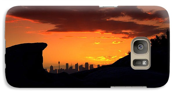 Galaxy Case featuring the photograph City In A Palm Of Rock by Miroslava Jurcik
