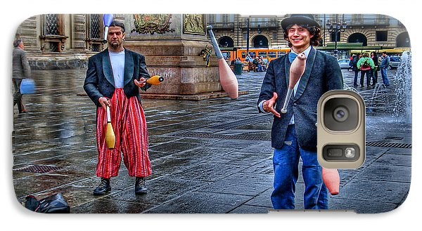 Galaxy Case featuring the photograph City Jugglers by Ron Shoshani