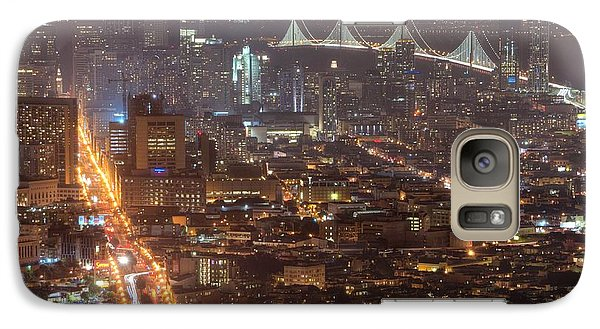 Galaxy Case featuring the photograph City Lava by Peter Thoeny