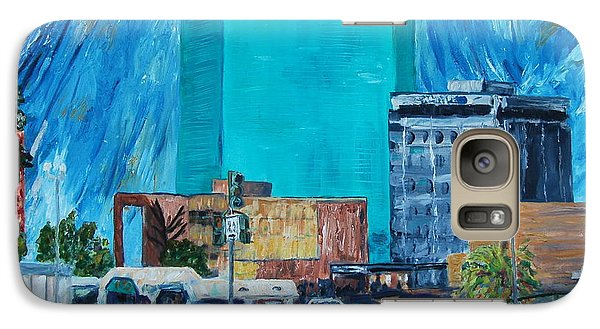 Galaxy Case featuring the painting City Lights by Ellen Anthony