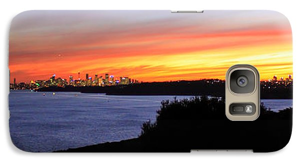 Galaxy Case featuring the photograph City Lights In The Sunset by Miroslava Jurcik