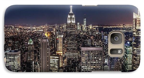 Galaxy Case featuring the photograph City Lights by Mihai Andritoiu