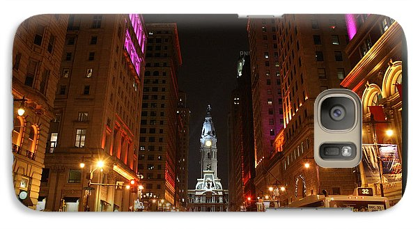 Galaxy Case featuring the photograph Philadelphia City Lights by Christopher Woods