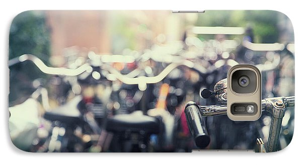 Bicycle Galaxy S7 Case - City Of Bikes by Jane Rix