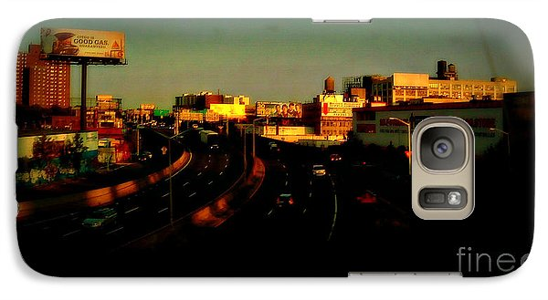Galaxy Case featuring the photograph City Of Gold - New York City Sunset With Water Towers by Miriam Danar