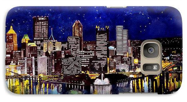 City Of Pittsburgh At The Point Galaxy S7 Case