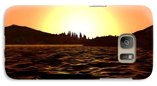 Galaxy Case featuring the painting City Of The Sun by Pet Serrano
