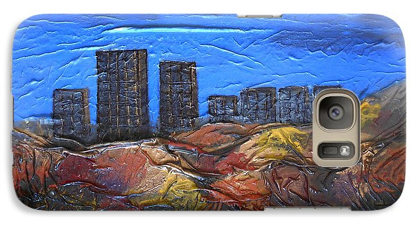 Galaxy Case featuring the mixed media City Of Trees by Angela Stout