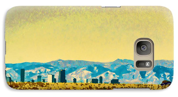Galaxy Case featuring the photograph City On The Plains by Catherine Fenner