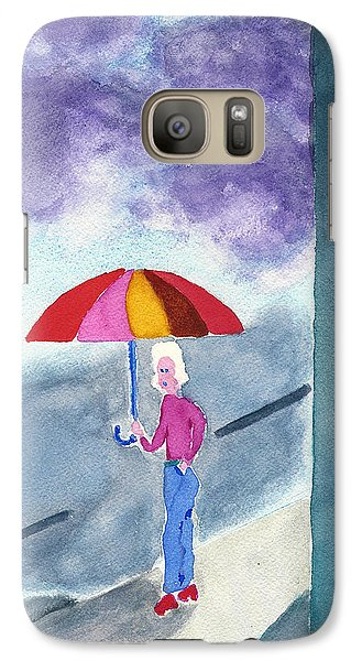 Galaxy Case featuring the painting City Rain by Frank Bright