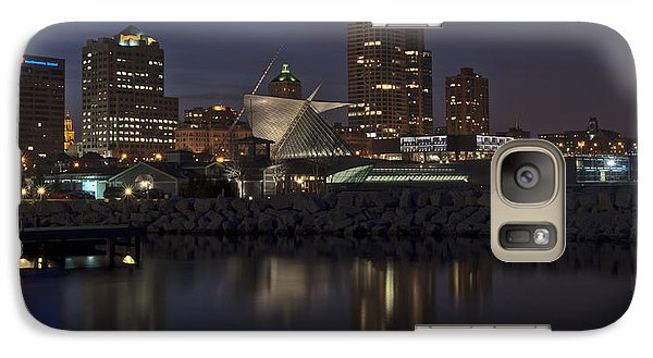 Galaxy Case featuring the photograph City Reflection by Deborah Klubertanz