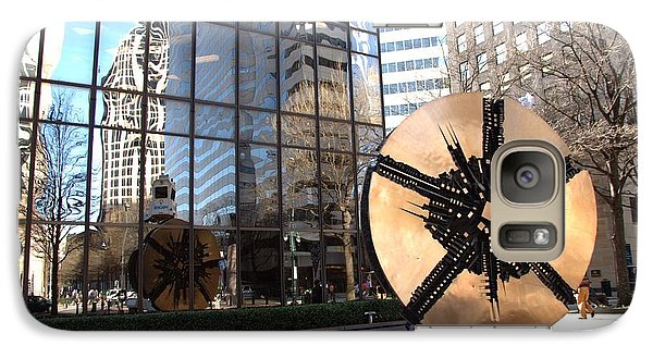 Galaxy Case featuring the photograph City Reflections - Charlotte Nc by Shelia Kempf