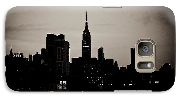 Galaxy Case featuring the photograph City Silhouette by Sara Frank