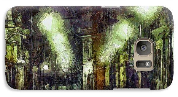 Galaxy Case featuring the drawing City Street by Joe Misrasi