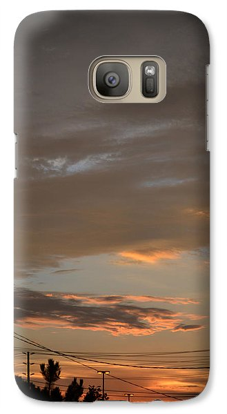 Galaxy Case featuring the photograph City Sunset 2  by Lyle Crump