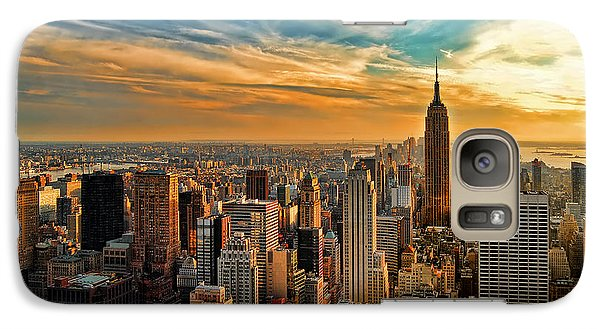 City Sunset New York City Usa Galaxy S7 Case by Sabine Jacobs