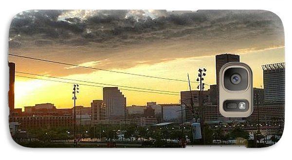 Galaxy Case featuring the photograph City Sunset Over Me by Toni Martsoukos