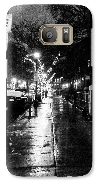 Galaxy Case featuring the photograph City Walk In The Rain by Mike Ste Marie