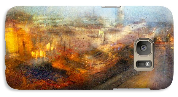 Galaxy Case featuring the photograph Cityscape #17 - Redpolis by Alfredo Gonzalez