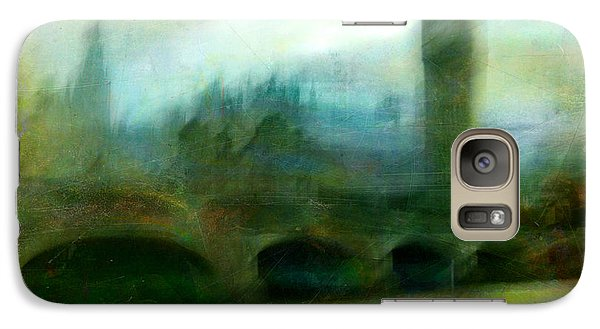 Galaxy Case featuring the photograph Cityscape #31. Blue Angel's Dream by Alfredo Gonzalez