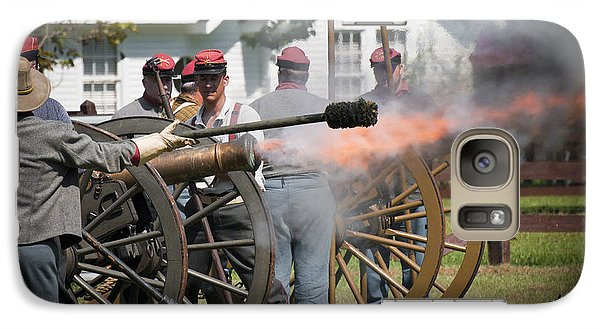 Galaxy Case featuring the photograph Civil War Cannon Fire by Ray Devlin