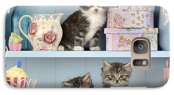 Baking Shelf Kittens Galaxy Case by Greg Cuddiford