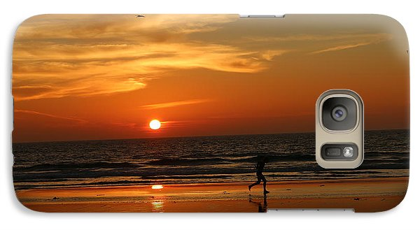 Clam Digging At Sunset - 3 Galaxy S7 Case