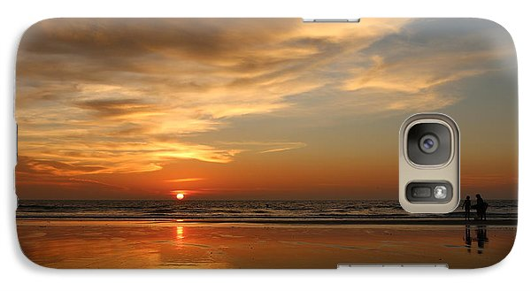 Clam Digging At Sunset - 4 Galaxy S7 Case