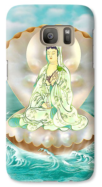 Galaxy Case featuring the photograph Clam-sitting Kuan Yin by Lanjee Chee