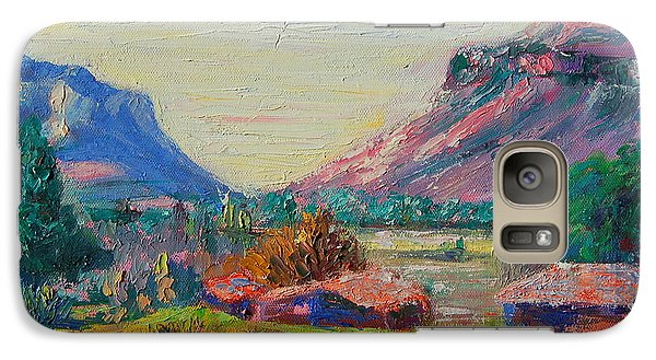 Galaxy Case featuring the painting Clarence Mountain Free State South Africa by Thomas Bertram POOLE