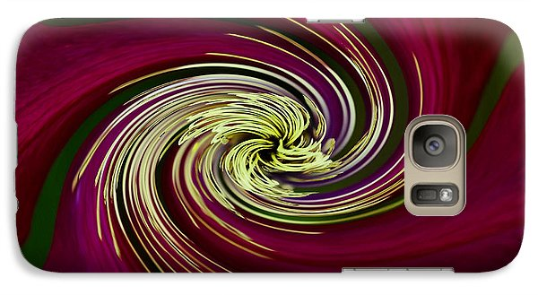 Galaxy Case featuring the photograph Claret Red Swirl Clematis by Debbie Oppermann
