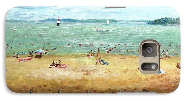 Galaxy Case featuring the painting Carlyle Lake Beach In Il by Ping Yan