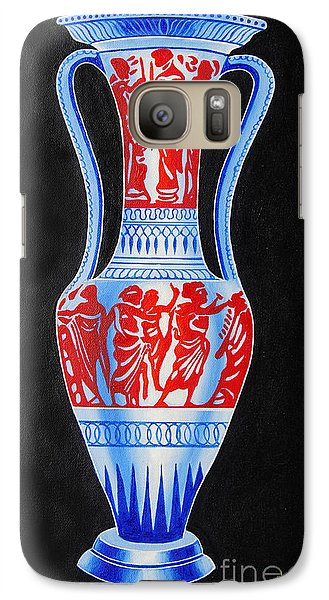 Galaxy Case featuring the painting Classic Ancient Grecian Pottery by Ragunath Venkatraman