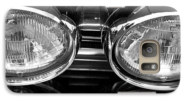 Galaxy Case featuring the photograph Classic Car Grill And Lights by Mick Flynn
