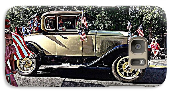 Galaxy Case featuring the photograph Classic Children's Parade Classic Car East Millcreek Utah 1 by Richard W Linford