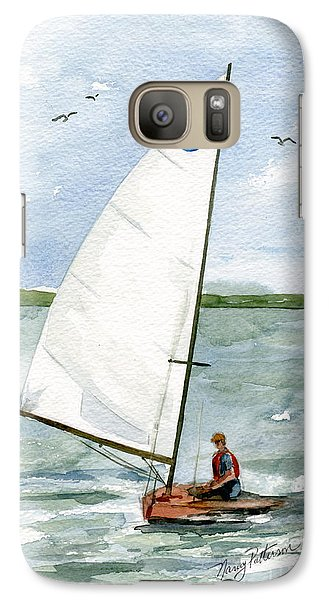 Galaxy Case featuring the painting Classic Moth Boat by Nancy Patterson