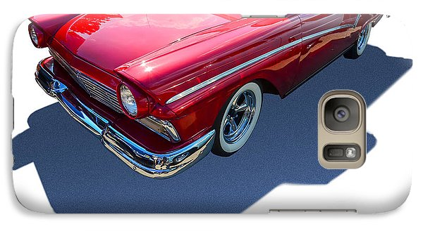 Galaxy Case featuring the photograph Classic Red Truck by Gianfranco Weiss