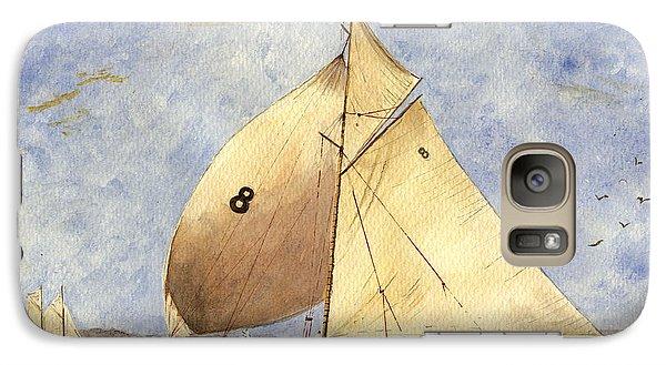 Barcelona Galaxy S7 Case - Classic Yacht Barcelona by Juan  Bosco