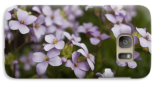 Galaxy Case featuring the photograph Claude's Aubrieta by Sandi Mikuse