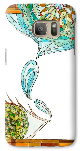 Galaxy Case featuring the drawing Cleansing Tears by Dianne Levy
