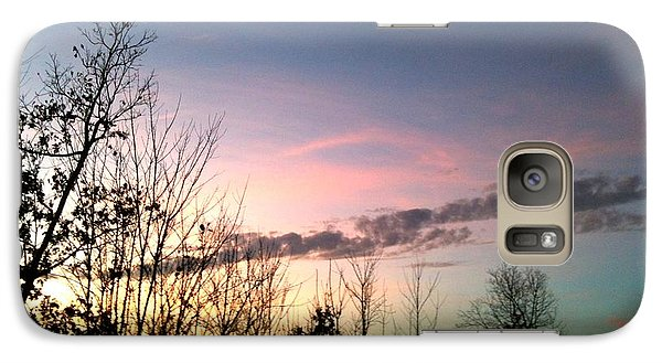 Galaxy Case featuring the photograph Clear Evening Sky by Linda Bailey