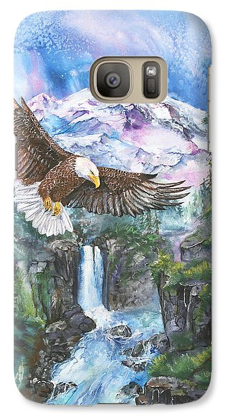 Galaxy Case featuring the painting Cleared For Landing Mount Baker by Sherry Shipley